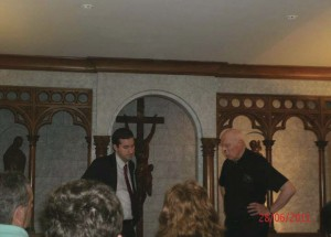 A Guest Speaker with Monsignor Reilly