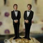 two men cake